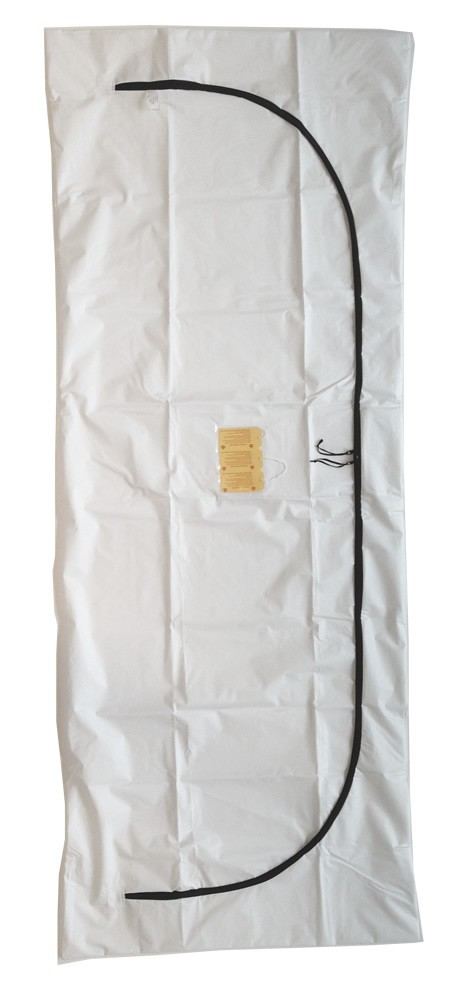 A5 BBAS 36x94x8M HD PVC WHT CZ INDIV - Standard White PVC/Vinyl Body Bag - Adult Size - Sold Individually