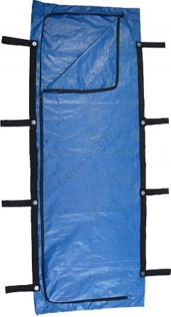 FEMA Blue Chlorine-Free Body Bag - 8 Handle - Bariatric Size
