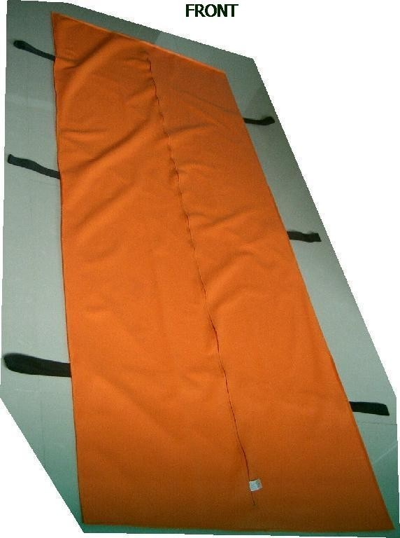 Maricopa County Spec Orange Disaster Body Bag - Straight Zipper - 6 Handle - Adult Size