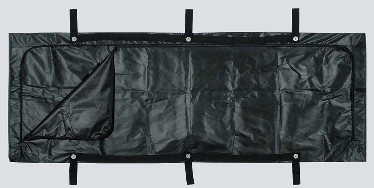 Govt DOD Spec Black Disaster Bag - NSN 9930-01-331-6244 - 6 Handle - Adult Size