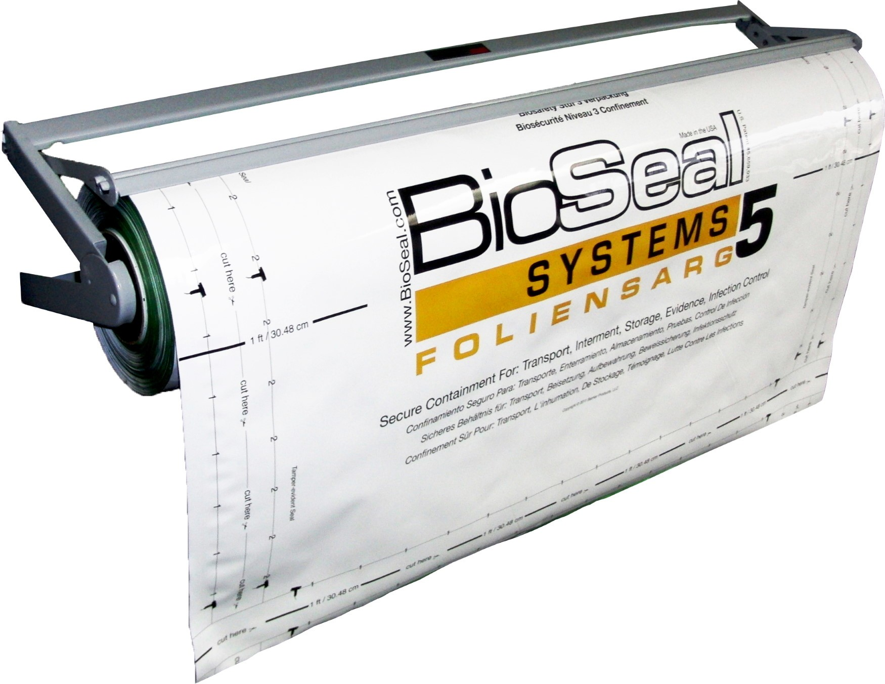 BioSeal System5® Wall-Mount Rack