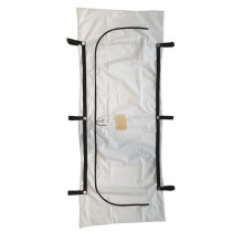Standard White PEVA Chlorine-Free Body Bag - 6 Handle - Adult Size