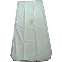 Standard White Chlorine-Free Body Bag - Bariatric Size - Wrap Around Zipper