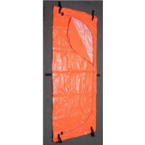Orange Disaster Bag with Inner Liner - 6 Handle - Adult Size