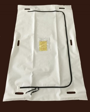 Outbreak Response Body Bag - 16 Mil / 400 Micron - 6 Handle - Child Size