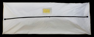 Economy Standard White PVC/Vinyl Body Bag - Straight Zipper - Adult Size