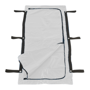 FEMA Blue Chlorine-Free Body Bag - 6 Handle - Adult Size